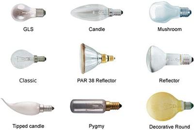 انواع لامپ رشته ای